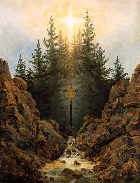 Krzyż w lesie – Caspar David Friedrich
