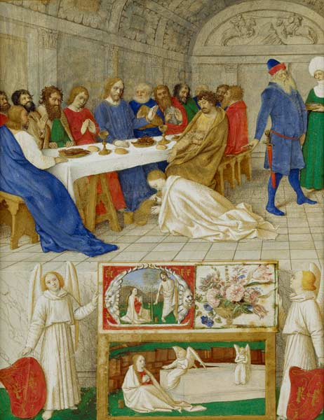 Jean Fouquet - Maria Magdalena namaszcza stopy Chrystusa