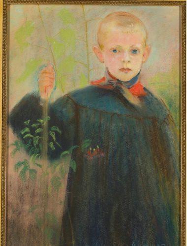 """Stanisław Wyspiański """"Chłopiec z kwiatem"""""""