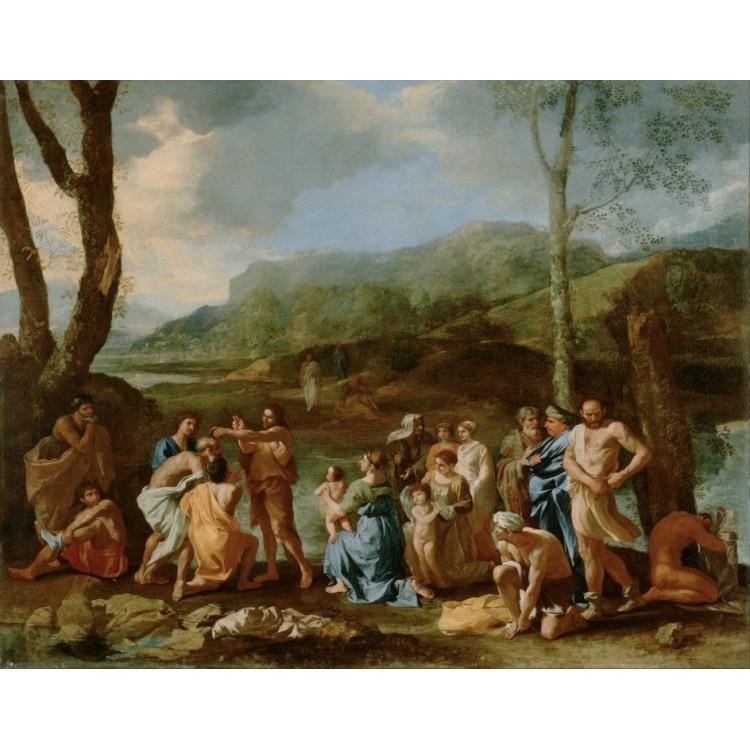 """Nicolas Poussin """"Święty Jan Chrzciciel nad rzeką Jordan"""" (ok. 1630)"""
